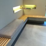 Armatur Badkeramik Vigour Sitzbank mit Holz